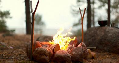 развести огонь без спичек