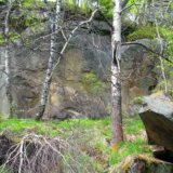 химерні скелі під час сходження на г Ключ