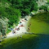 Пляж на острове Хортица