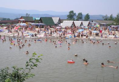 Соляне озеро та шахти в Солотвино