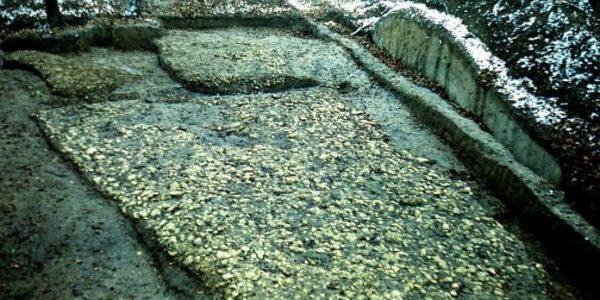 фрагмент каменного мостовую