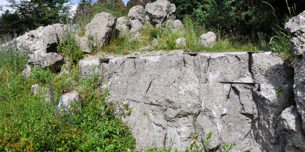 ставка Гитлера бетонные руины
