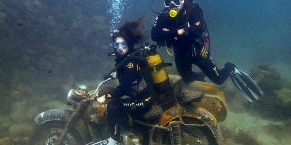 Малинский подводный музей,мотоцикл