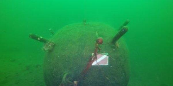 Малинский подводный музей,макет подводной мины