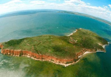 The uninhabited island of Berezan
