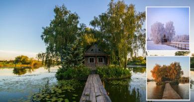 Будиночок рибалки на острові любові