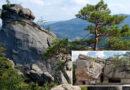 Dovbush Rocks. Outdoor recreation in Ukraine
